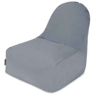 Majestic Home Goods Outdoor Indoor Gray Solid Kick-It Chair
