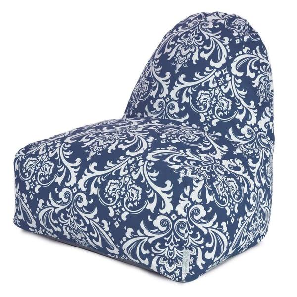 Majestic Home Goods Outdoor Indoor Navy Blue French Quarter Kick-It Chair