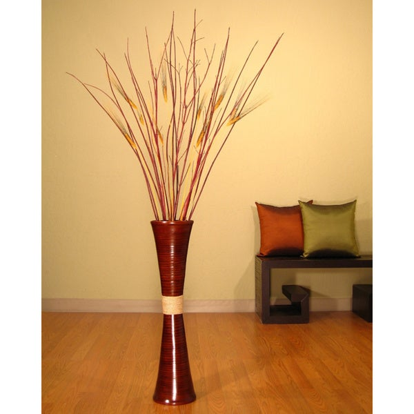 Bamboo Trumpet Vase with Floral