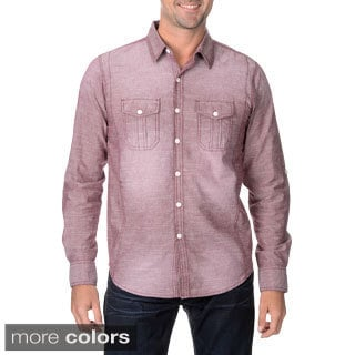 Seven7 Men's Distressed Button-down Shirt
