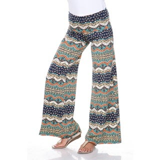 White Mark Women's 'Cool Dubai Nights' Palazzo Pants