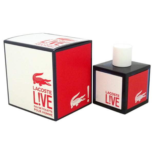 Lacoste L!ve Men's 3.3-ounce Eau de Toilette Spray