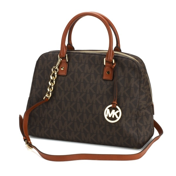 MICHAEL Michael Kors Jet Set Travel Signature PVC Satchel