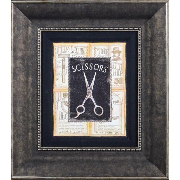 Charlene Audrey 'Grooming Scissors' Framed Print