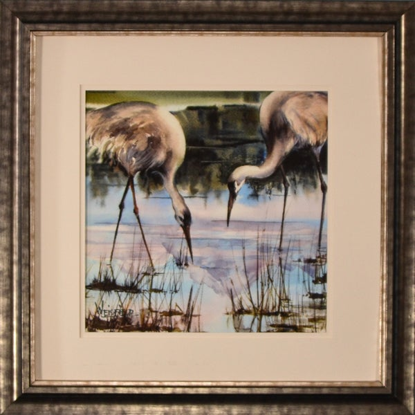 Gayle Weisfield 'Blue Heron' Framed Print