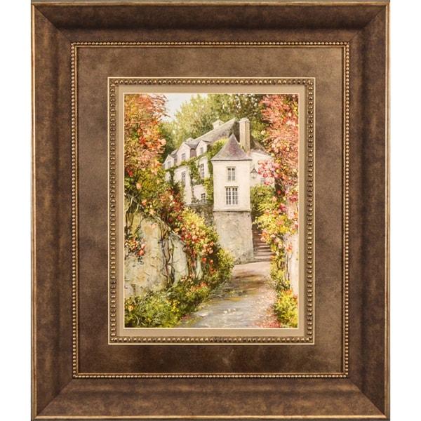 Roger Duvall 'St. Moritz Petites Walkway' Framed Print