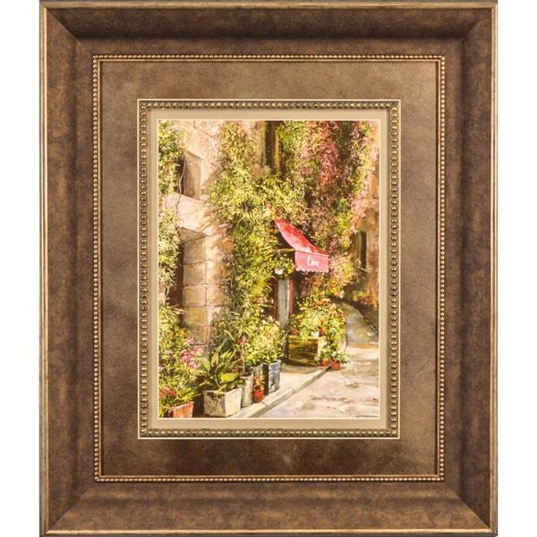 Roger Duvall 'St. Moritz Petites Awning' Framed Print