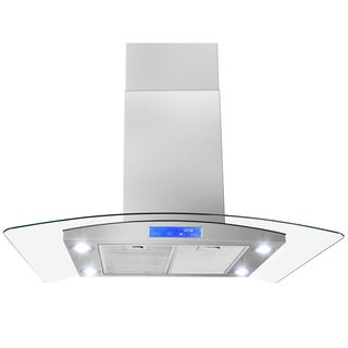 30-inch OSIRH668IS2-30-AK Modern Design Stainless Steel Island Mount Range Hood
