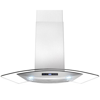 30-inch OSWRH688-CS14-30-AK Curved Glass Stainless Steel Wall Mount Range Hood