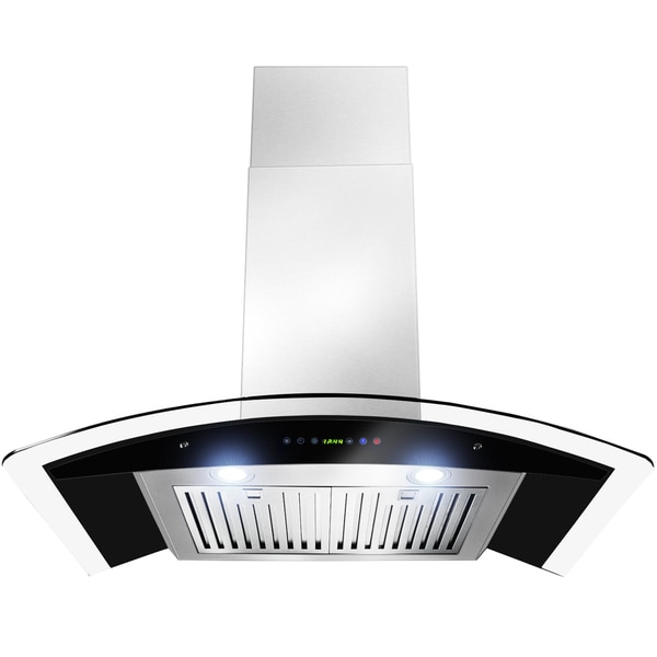 30 inch OSWRH668S3 30 AK Curved Design Stainless Steel Wall Mount Range Hood