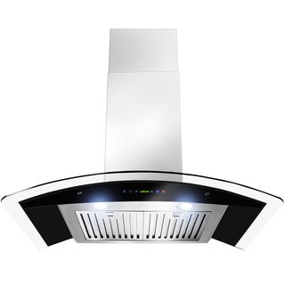30-inch OSWRH668S3-30-AK Curved Design Stainless Steel Wall Mount Range Hood