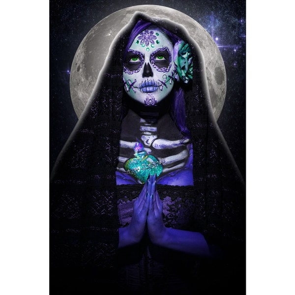 Daveed Benito 'Luna Muerte' Gallery-wrapped Canvas Print