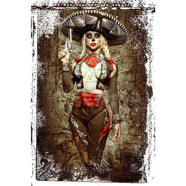 Daveed Benito 'El Mariachi Muerte' Gallery-wrapped Canvas Print