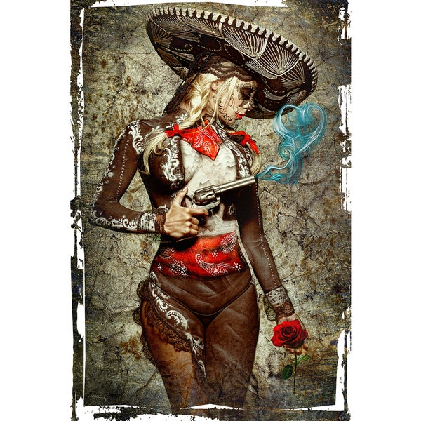 Daveed Benito 'El Mariachi Amore' Gallery-wrapped Canvas Print