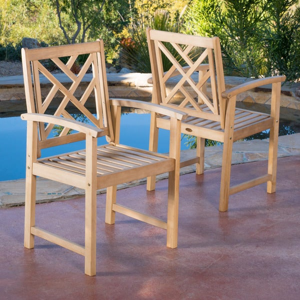 Harbour Eucalyptus Wood Armchair (Set of 2)