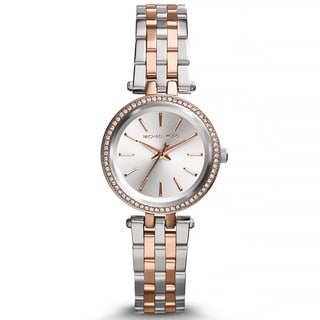 Michael Kors Women's MK3298 Petite Darci Two-tone Crystal Bezel Watch