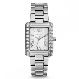 Michael Kors Women's MK3289 Petite Emery Silvertone Crystal Accent Watch
