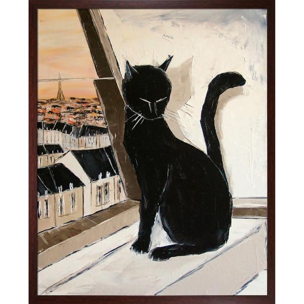 Atelier De Jiel 'Black cat is a Paris'Mmaster Framed Fine Art Print