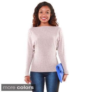 Hadari Women's Close Knit Dolman Sweater