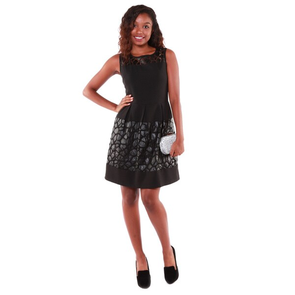 Hadari Women's Little Black A-Line Dress