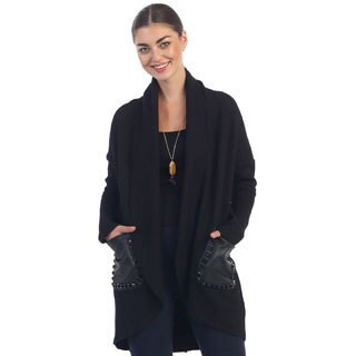 Hadari Women's Black Mantle Coat