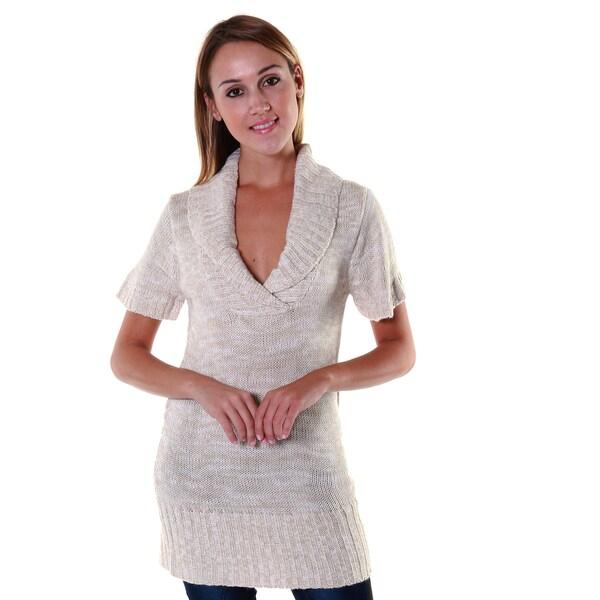 Hadari Women's Shaw V-Neck Knit Sweater Blouse