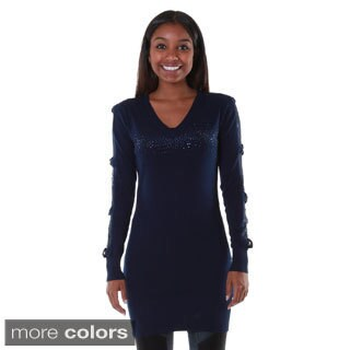 Hadari's Women's Bow Lace Shoulder Tunic