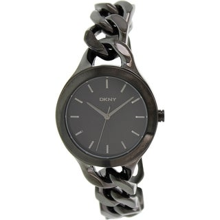 Dkny Women's Chambers NY2219 Black Stainless-Steel Quartz Watch with Black Dial