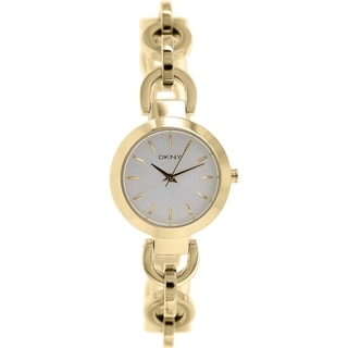 Dkny Women's Stanhope NY2134 Gold Stainless-Steel Quartz Watch with Silver Dial