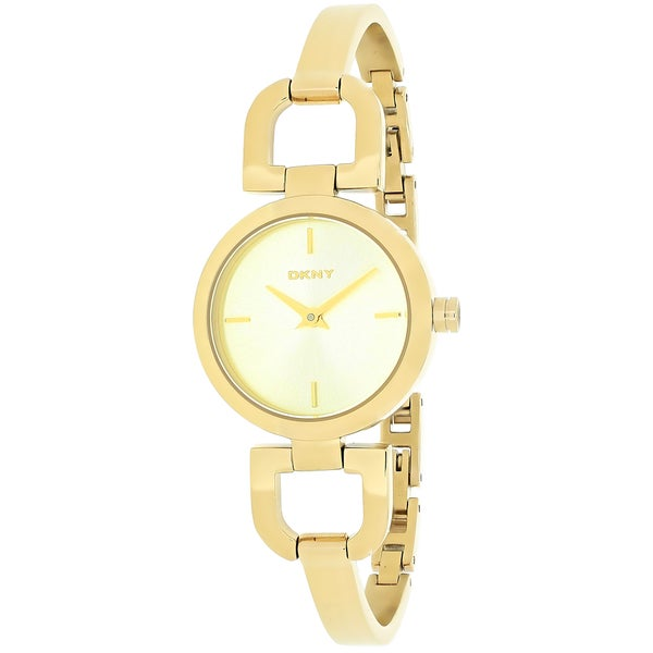 Dkny Women's NY8543 Gold Stainless-Steel Quartz Watch with Gold Dial