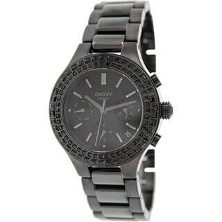 Dkny Women's Chambers NY2226 Black Ceramic Quartz Watch with Black Dial