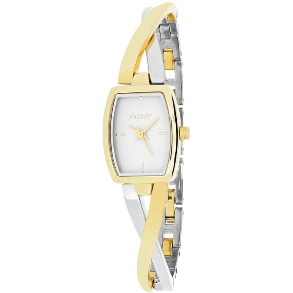 Dkny Women's Crosswalk NY2235 Gold Stainless-Steel Analog Quartz Watch with White Dial