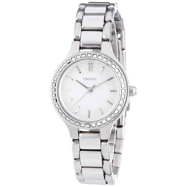 Dkny Women's Chambers NY2220 Silver Stainless-Steel Quartz Watch with Silver Dial