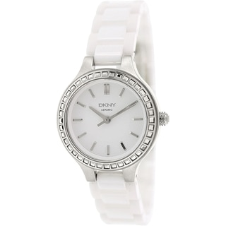 Dkny Women's NY2249 White Ceramic Quartz Watch with White Dial