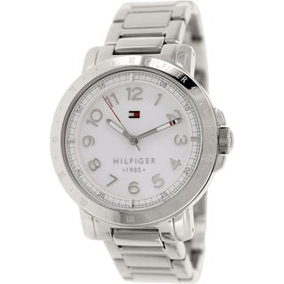 Tommy Hilfiger Women's 1781397 Silver Stainless-Steel Analog Quartz Watch with White Dial