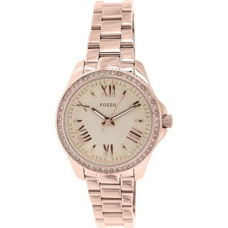 Fossil Women's Cecile AM4578 Rose goldtone stainless steel Quartz Watch with Rose goldtone Dial