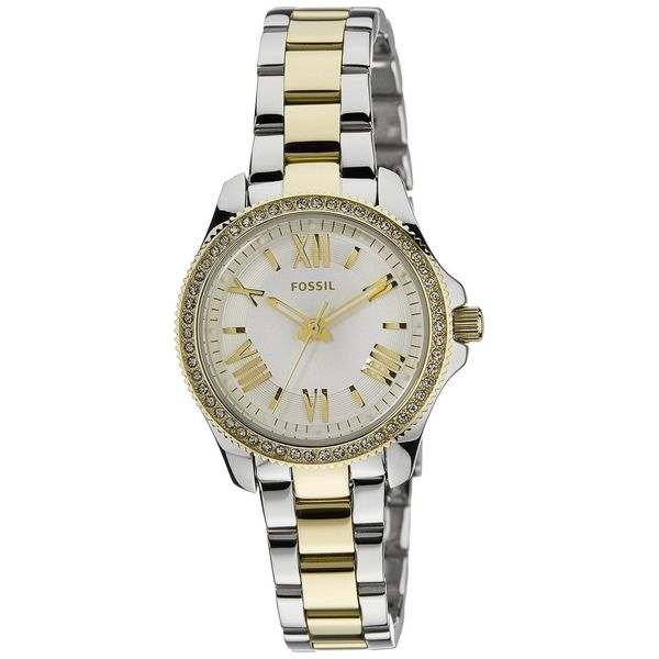 Fossil Women's Cecile AM4579 Two-tone stainless steel Quartz Watch with White Dial