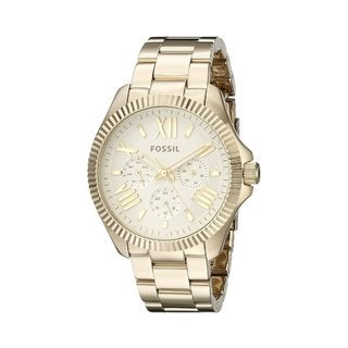 Fossil Women's Cecile AM4570 Gold Stainless-Steel Quartz Watch with Gold Dial