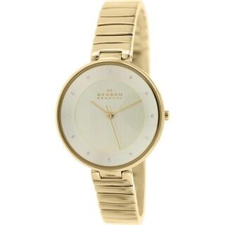 Skagen Women's Gitte SKW2226 Gold Stainless-Steel Quartz Watch with Gold Dial