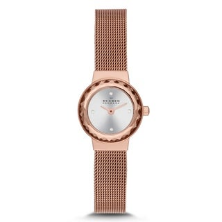 Skagen Women's Leonora SKW2187 Rose goldtone stainless steel Quartz Watch with Silver Dial
