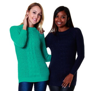 Hadari Women's Knit Sweater Top (Set of Two)