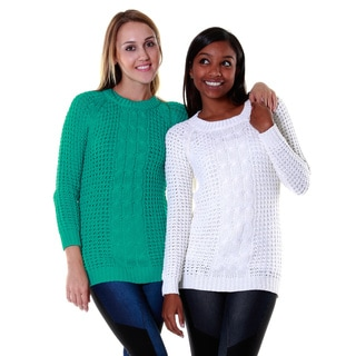 Hadari Women's Knit Sweater Top (Two Set Bundle)