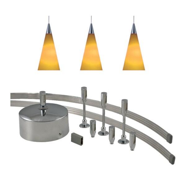 Jesco 3-light 150-watt Low Volt Complete Monorail Pendant Kit