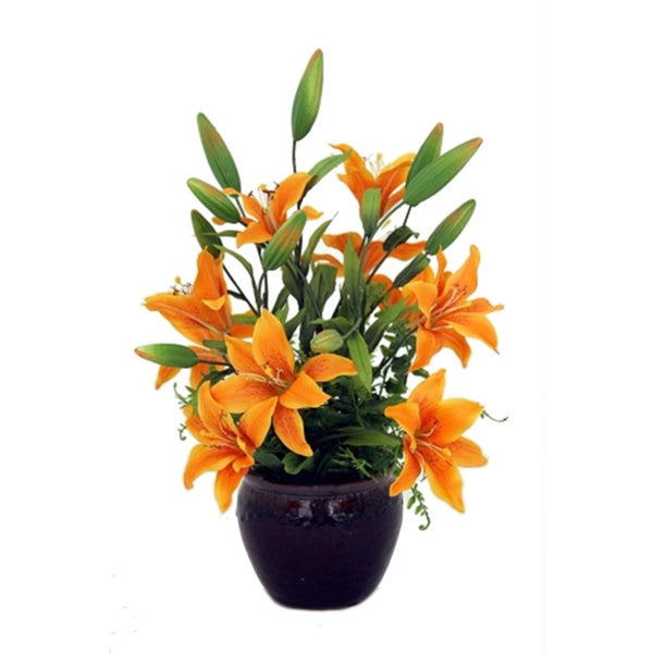 Silk Day Lily Flower Arrangement