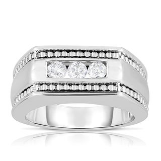 14k White Gold 1/2ct TDW 3-stone Diamond Ring (H-I, I1-I2)
