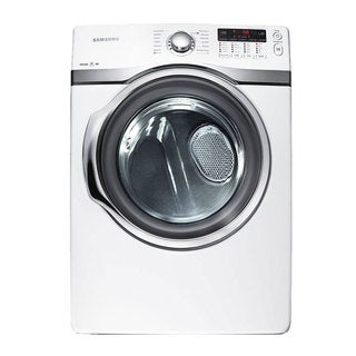 Samsung White Gas Dryer with 7.3 Cubic Feet Capacity