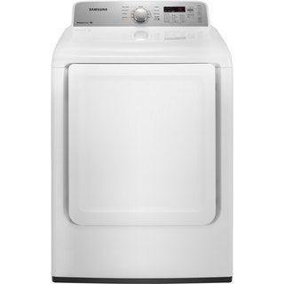 Samsung White Gas Dryer with 7.2 Cubic Feet Capacity
