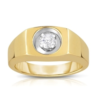 10k Yellow Gold 1/3ct TDW Solitaire Brilliant Diamond Ring (L-M, SI1-SI2)