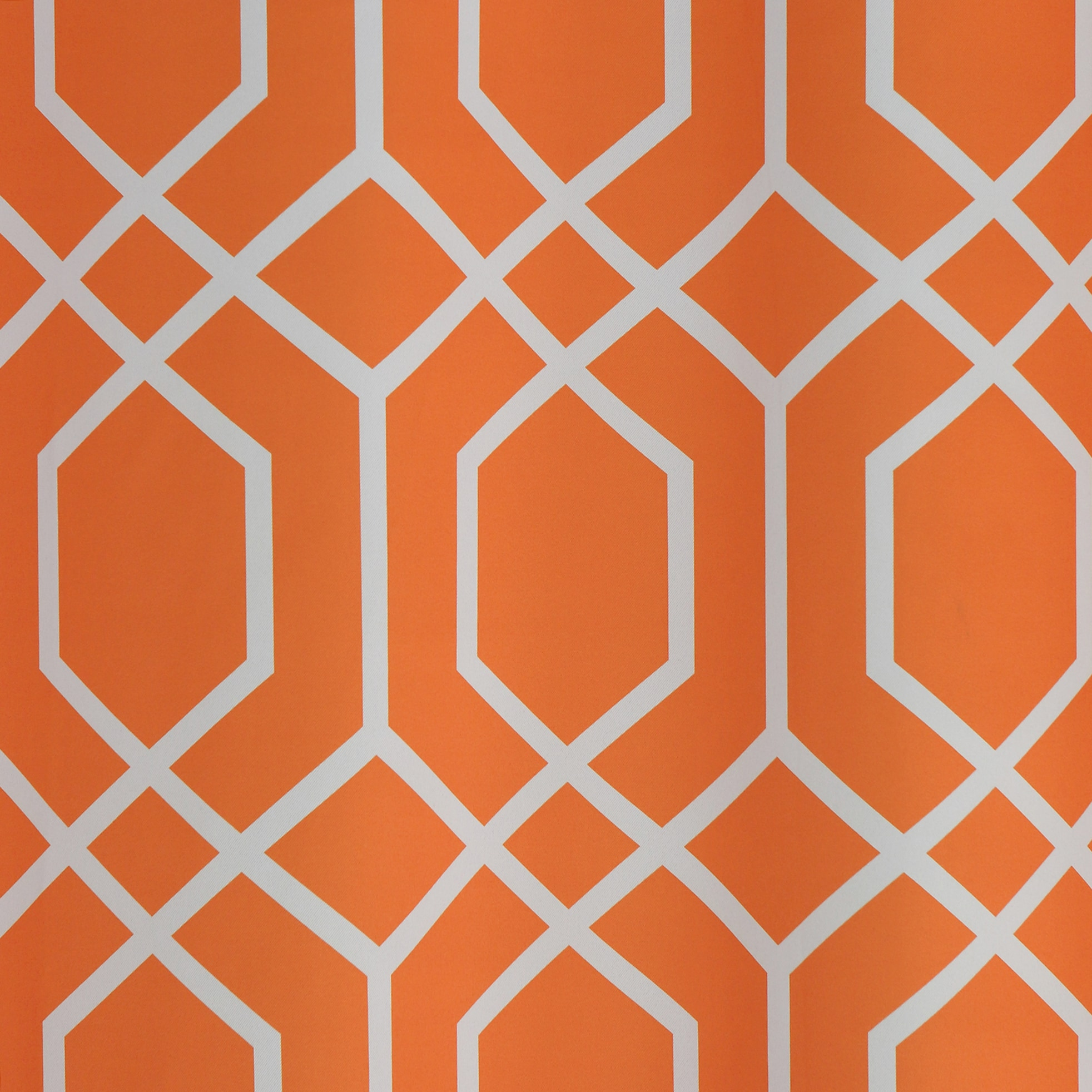 Lights Out Geometric Trellis Printed Room Darkening Curtain Panel Pair