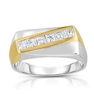 18k Two-tone Gold 3/4ct TDW 6-Stone Diamond Ring (I-J, SI1-SI2)